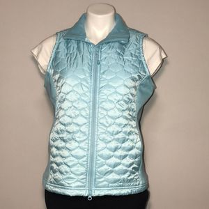 LL Bean quilted light blue vest
